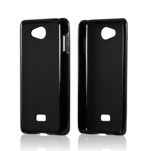 MultiPro Black Crystal Silicone Case w/ Polished Borders for LG Spirit 4G