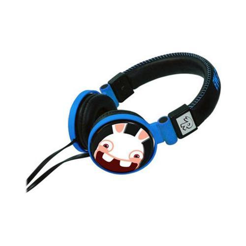 OEM GameOn Audio Raving Rabbids Over-The-Ear Gaming & Music Headphones w/ Ear Cushions - Blue/ Black