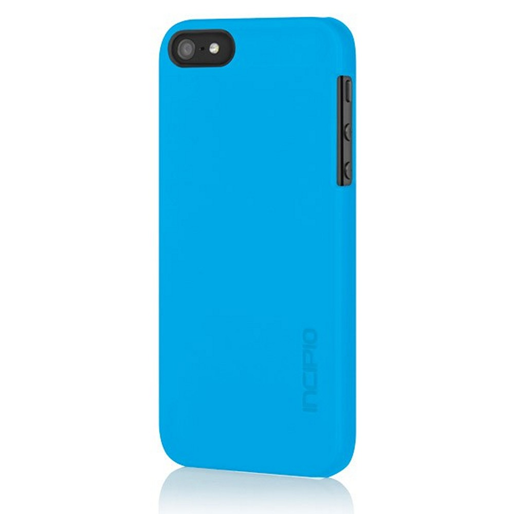 OEM Incipio Feather Apple iPhone 5/5S Ultra-Thin Rubberized Hard Case w/ Screen Protector  IPH-807 - Blue