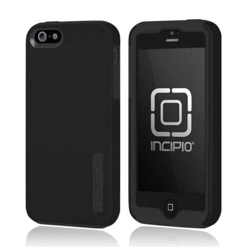 Incipio Black DualPro Series Hard Cover Over Silicone for Apple iPhone 5/5S - IPH-815