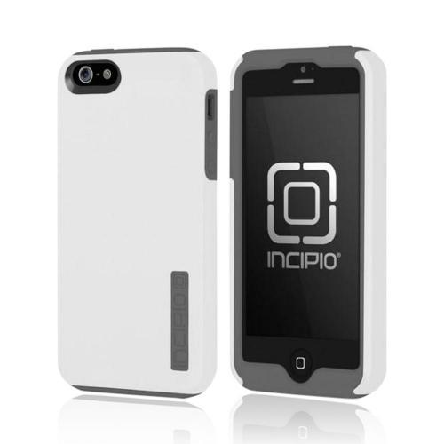 Incipio White/ Gray DualPro Series Hard Cover Over Silicone Case for Apple iPhone 5/5S - IPH-818