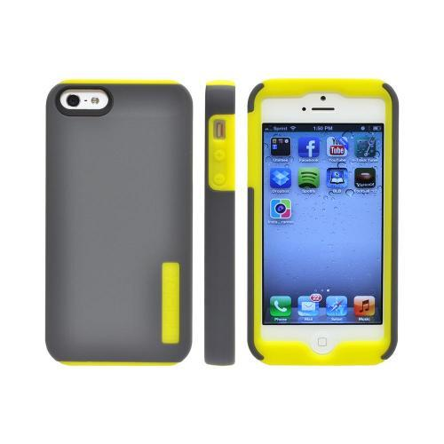 Incipio Gray/ Yellow DualPro Series Hard Cover Over Silicone for Apple iPhone 5/5S - IPH-819