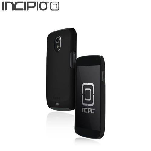 Incipio Feather Samsung Galaxy Nexus Rubberized Hard Case w/ Screen Protector - Black