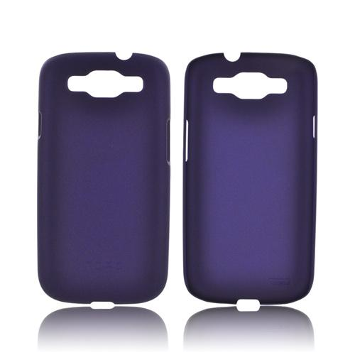Incipio Feather Samsung Galaxy S3 Rubberized Back Cover Hard Case w/ Screen Protector - Purple