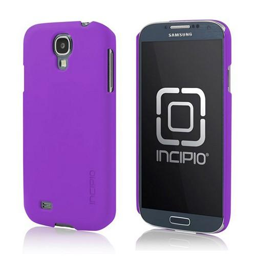 Incipio Purple Feather Series Rubberized Hard Case w/ Screen Protector for Samsung Galaxy S4