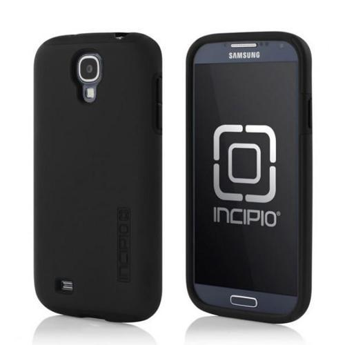 Incipio Black Dual PRO Series Rubberized Hard Case on Silicone for Samsung Galaxy S4