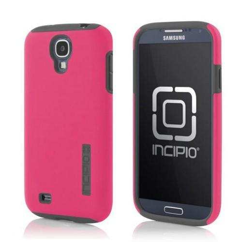 Incipio Hot Pink/ Gray Dual PRO Series Rubberized Hard Case on Silicone w/ Screen Protector for Samsung Galaxy S4