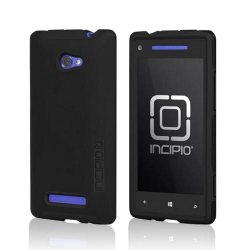 Incipio Black Dual PRO Series Hard Case on Silicone w/ Screen Protector for HTC 8X