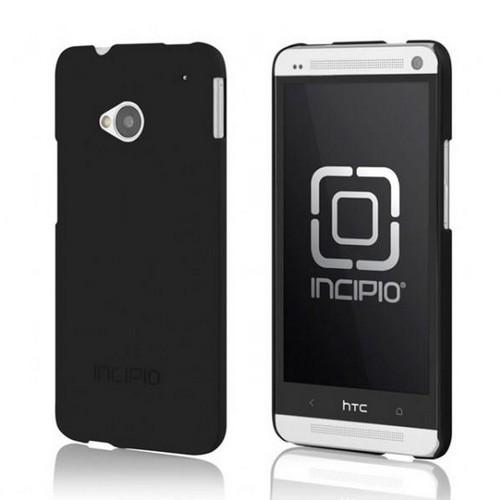 Incipio Black Feather Series Rubberized Hard Case for HTC One