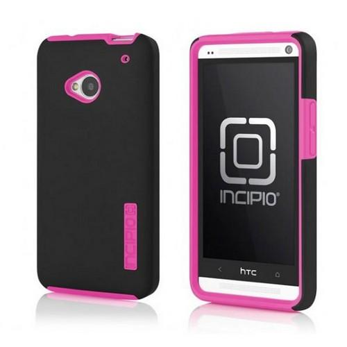 Incipio Black/ Hot Pink Dual PRO Series Hard Case on Silicone for HTC One