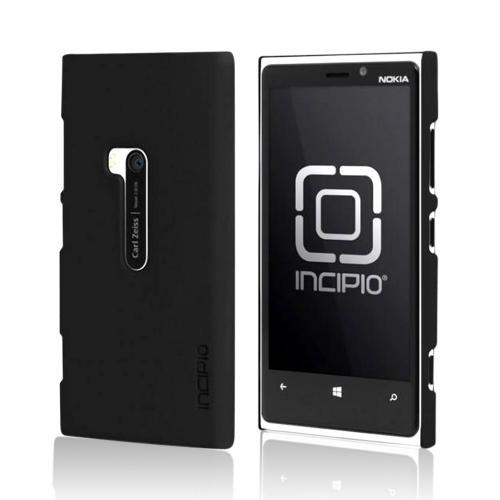 Incipio Black Feather Series Rubberized Hard Case w/ Screen Protector for Nokia Lumia 920