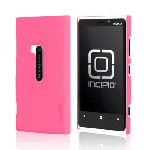 Incipio Hot Pink Feather Series Rubberized Hard Case w/ Screen Protector for Nokia Lumia 920