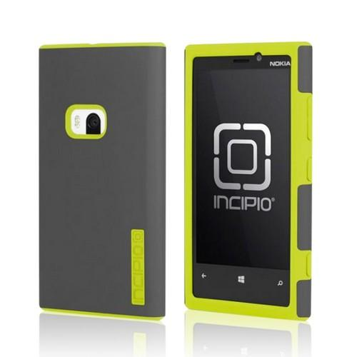 Incipio Gray/ Yellow Dual Pro Hard Cover Over Silicone w/ Screen Protector for Nokia Lumia 920