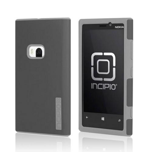 Incipio Dark Gray/ Light Gray Dual Pro Hard Cover Over Silicone w/ Screen Protector for Nokia Lumia 920