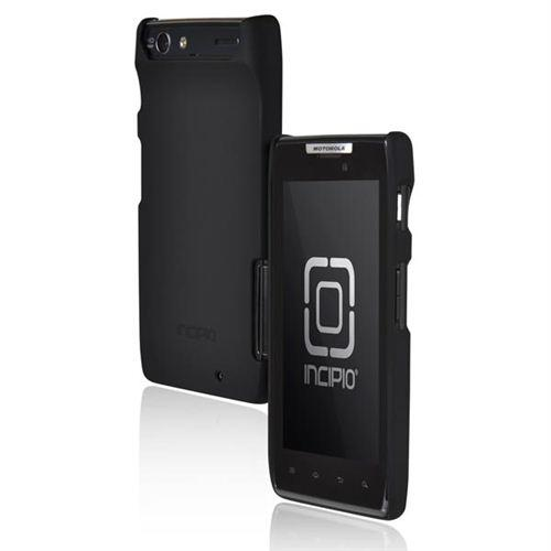 Incipio Feather Motorola Droid RAZR Rubberized Hard Case w/ Screen Protector - Black