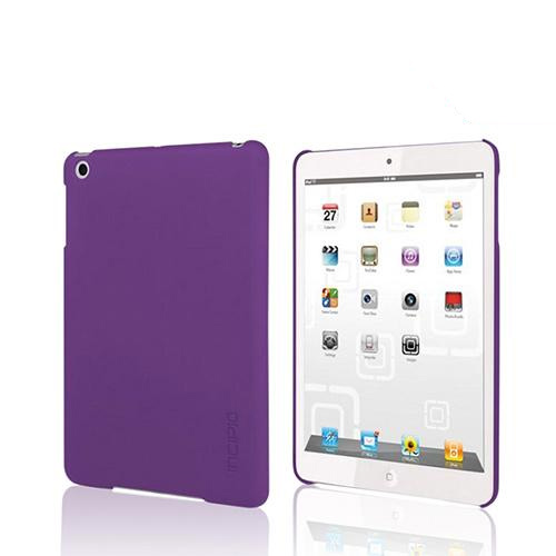 Incipio Purple Feather Series Ultra-Thin Rubberized Hard Case w/ Screen Protector for Apple iPad Mini