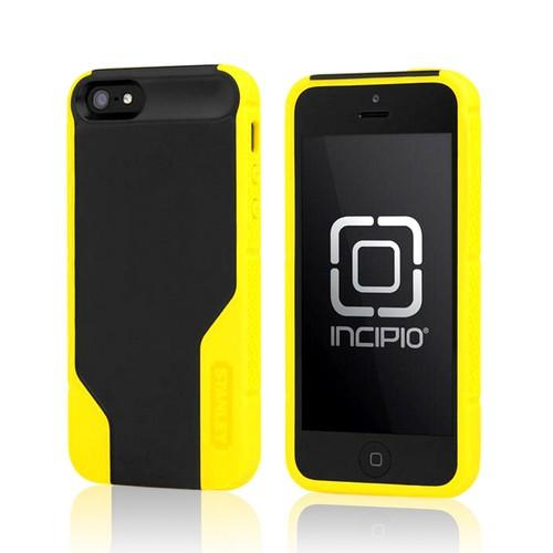 Yellow/ Black Rugged Hard Case on Silicone w/ Holster & Screen Protector OEM Incipio for Apple iPhone 5 Stanley Technician Series