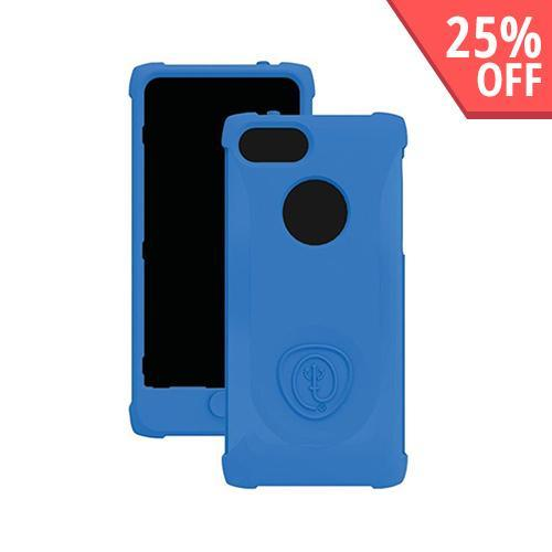 Trident Blue Perseus Series Impact-Resistant Silicone Case w/ Screen Protector for Apple iPhone 5/5S - PS-IPH5-BLU