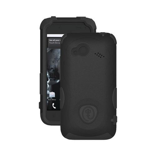 Trident Aegis HTC Droid Incredible 4G LTE Hard Case Over Silicone w/ Screen Protector - Black