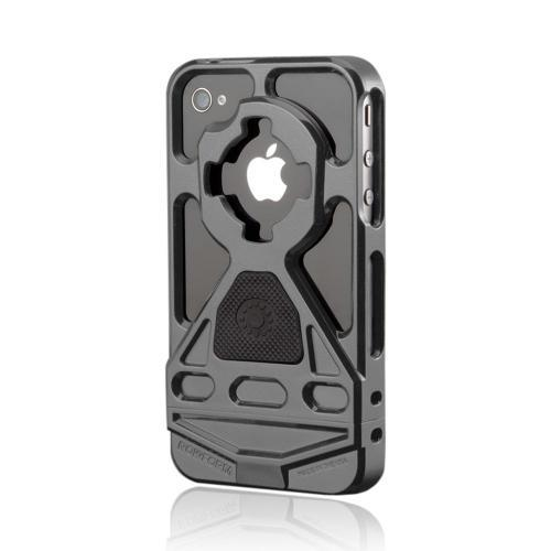 OEM Rokform v3 Apple iPhone 4/4S Hard Case w/ Mount & Lanyard - Gray