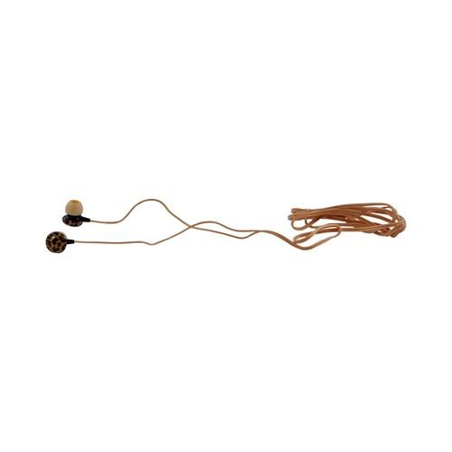 OEM iHip Chic Universal Leopard Earbud Headset (3.5mm), IP-EP48-LEOP - Orange/ Black Leopard