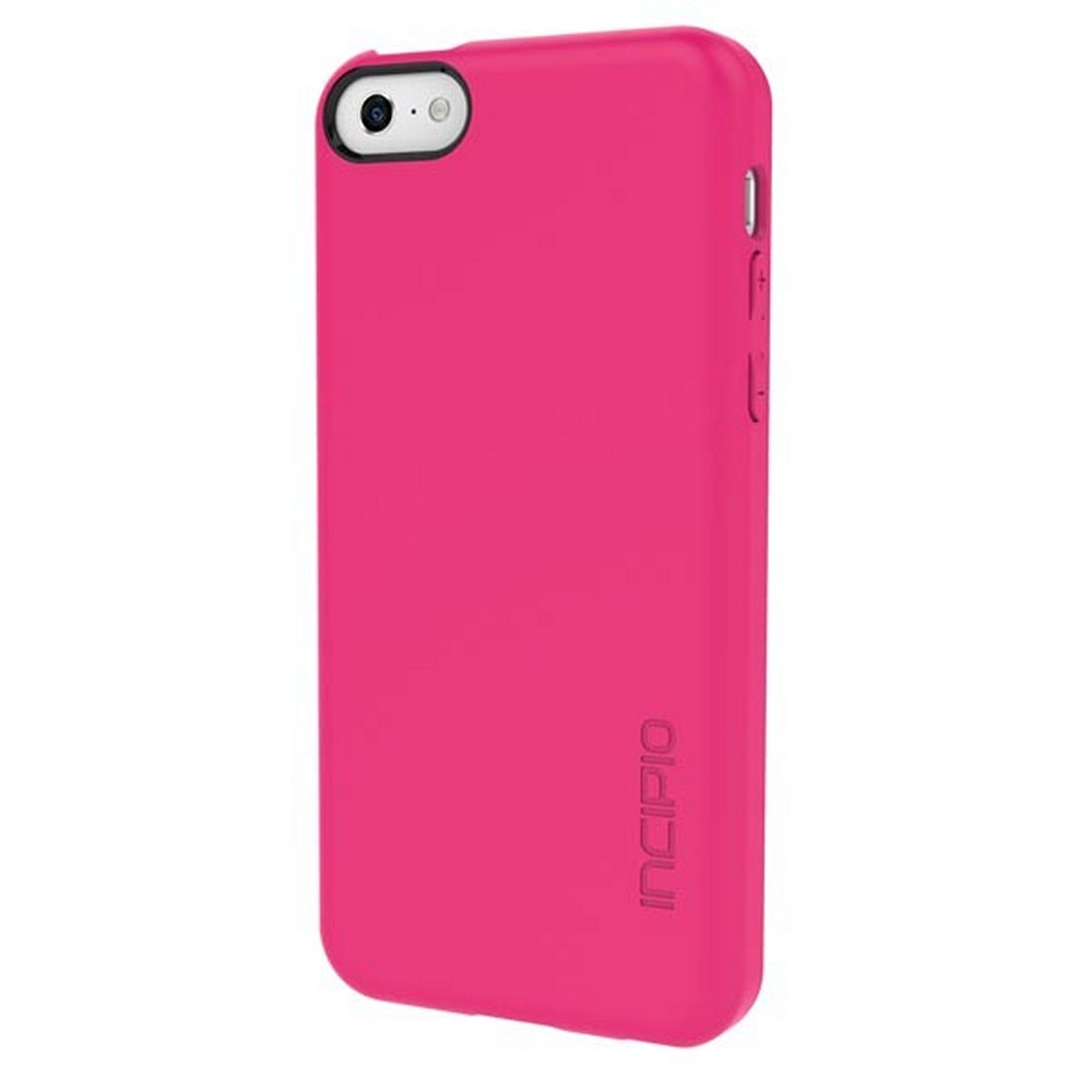 Incipio Hot Pink Feather Series Rubberized Hard Case for Apple iPhone 5C - IPH-1141-PNK