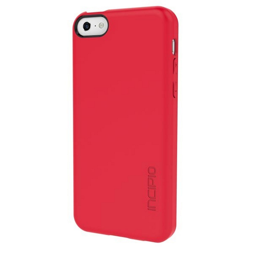 Incipio Red Feather Series Ultra-Thin Rubberized Hard Case for Apple iPhone 5C - IPH-1141-RED