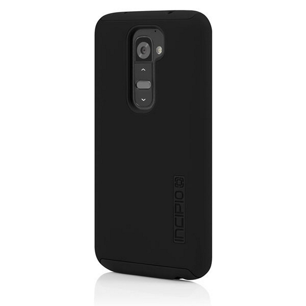Incipio Black Dual PRO Series Rubberized Hard Case on Silicone for LG G2 - LGE-218-BLK