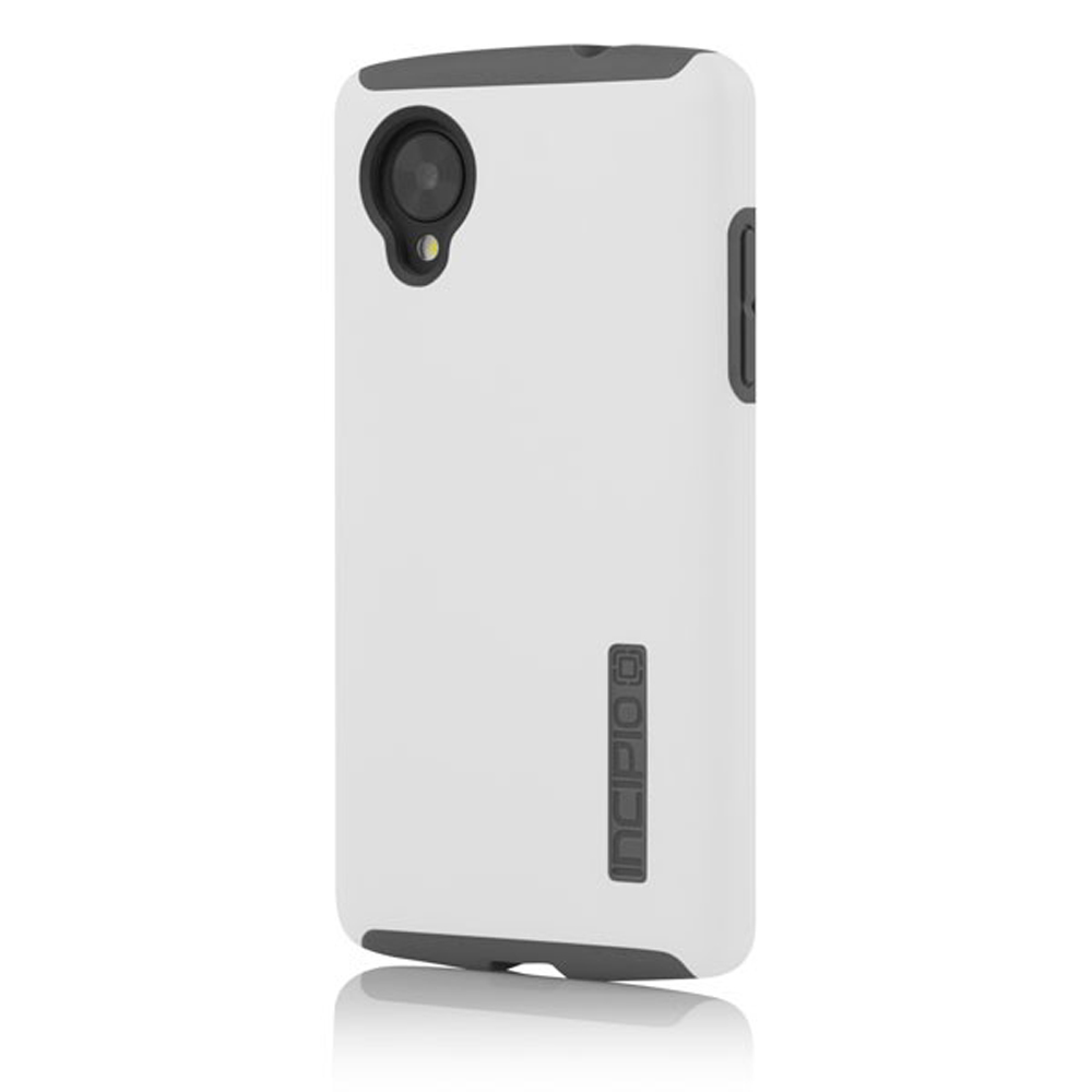 Incipio White DualPro Series Hard Cover Over Silicone Case for LG Google Nexus 5 - LGE-226-WHT