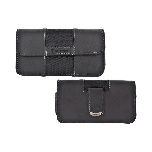 OEM Qmadix Universal Horizontal Leather Pouch w/ Magnetic Closure (PUTL) - Black