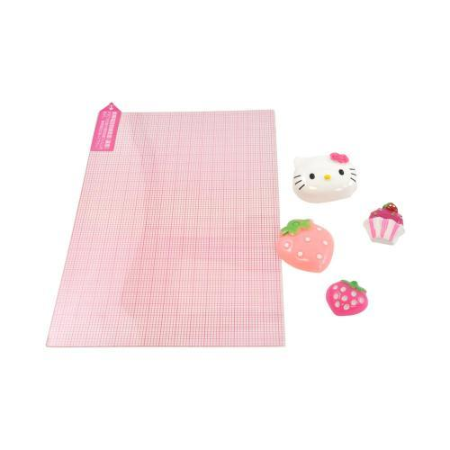 Officially Licensed Sanrio Hello Kitty DIY Decoration Art Kit w/ Strawberries, Pastries, Hello Kitty Face - Pink/ White
