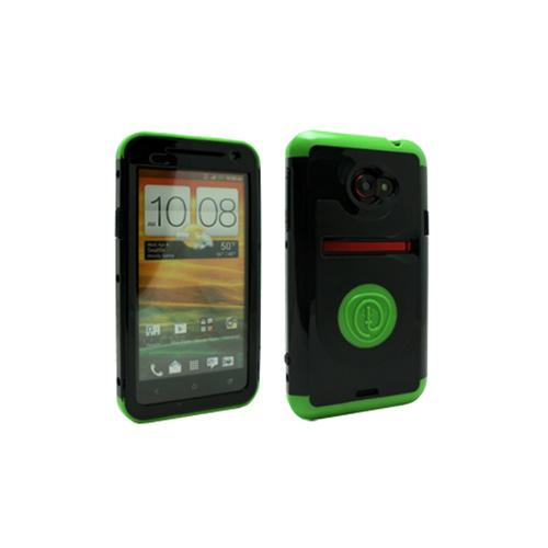 OEM Trident Cyclops HTC EVO 4G LTE Hard Case w/ Built-In Screen Protector - Green/ Black
