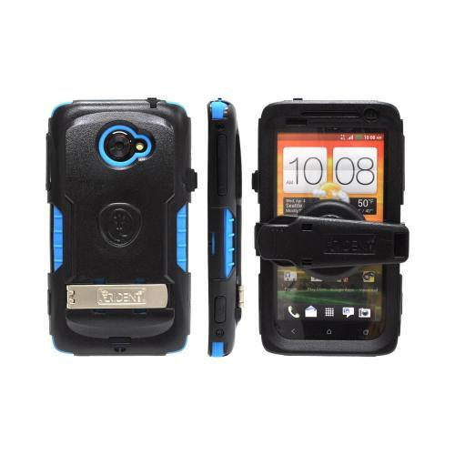 OEM Trident Kraken AMS HTC EVO 4G LTE Hard Case Over Silicone w/ Screen Protector, Kickstand & Belt Clip - Blue/ Black