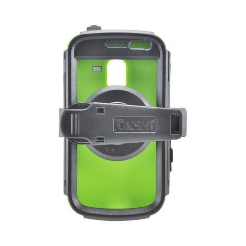 OEM Trident Kraken AMS Samsung Exhilarate i577 Hard Case Over Silicone w/ Screen Protector, Kickstand & Belt Clip - Green/ Black
