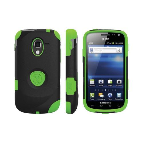 OEM Trident Aegis Samsung Exhilarate i577 Hard Case Over Silicone w/ Screen Protector - Green/ Black