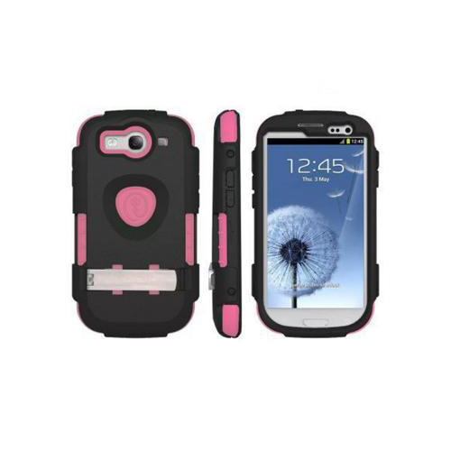 OEM Trident Kraken AMS Samsung Galaxy S3 Hard Case Over Silicone w/ Screen Protector - Black/ Pink