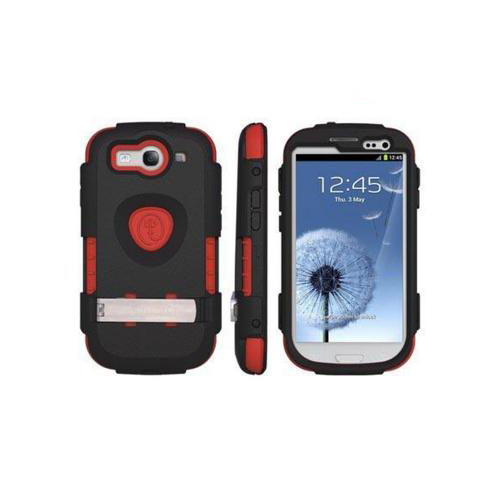 OEM Trident Kraken AMS Samsung Galaxy S3 Hard Case Over Silicone w/ Screen Protector - Black/ Red