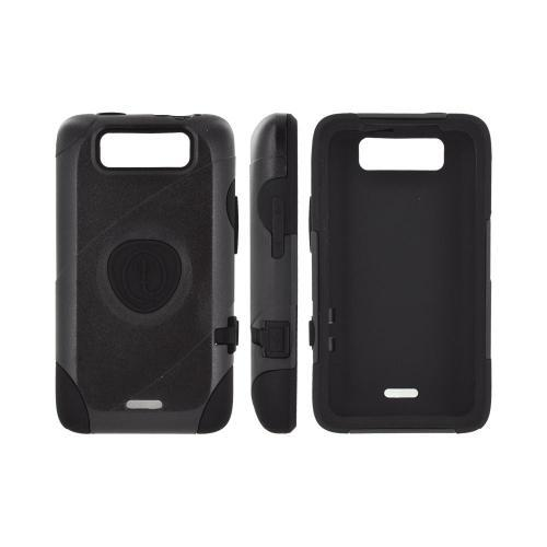 OEM Trident Aegis LG Viper 4G LTE/ Connect 4G Hard Cover Over Silicone Case w/ Screen Protector - Black