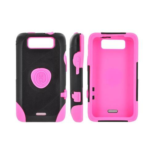 OEM Trident Aegis LG Viper 4G LTE/ Connect 4G Hard Cover Over Silicone Case w/ Screen Protector - Pink/ Black