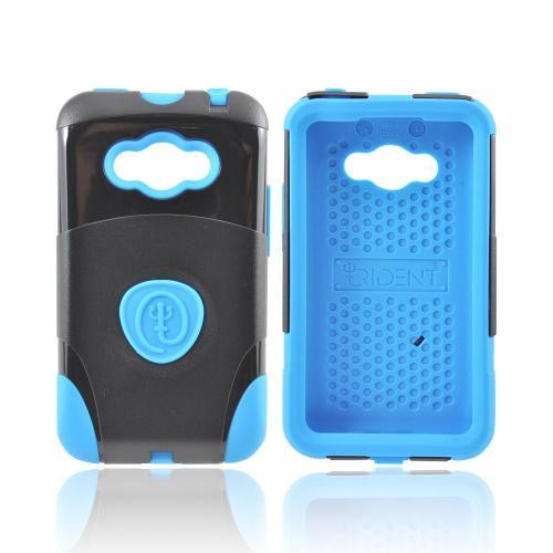 OEM Trident Aegis LG Optimus Elite Hard Cover Over Silicone Case w/ Screen Protector - Blue/ Black