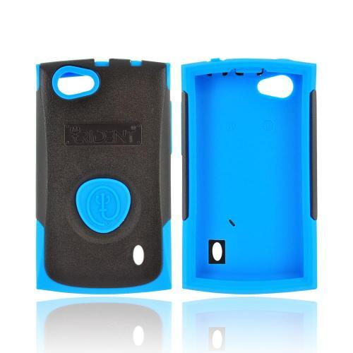 OEM Trident Aegis LG Optimus M+ Hard Cover Over Silicone Case w/ Screen Protector - Blue/ Black