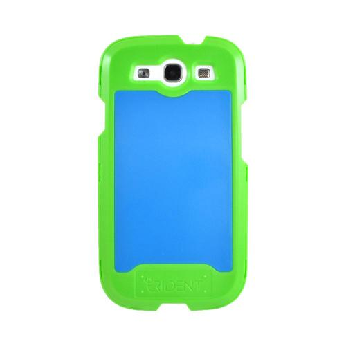 OEM Trident Apollo Samsung Galaxy S3 Hard Case w/ Interchangeable Plates & Screen Protector - Green/ Blue