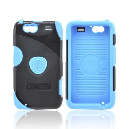 OEM Trident Aegis Motorola Atrix HD Hard Cover Over Silicone Case w/ Screen Protector - Blue/ Black