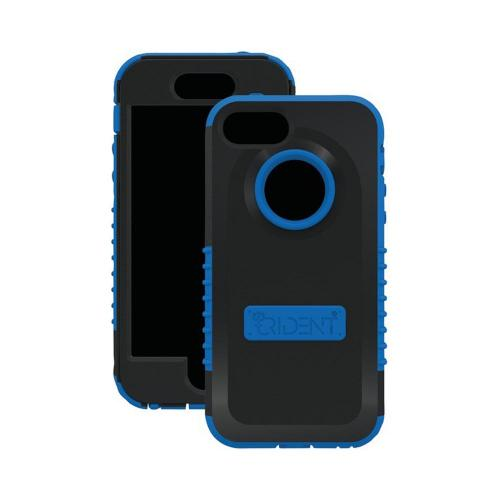 OEM Trident Cyclops Apple iPhone 5 Anti-Skid Hard Cover Over Silicone Case w/ Built-In Screen Protector - Blue/ Black