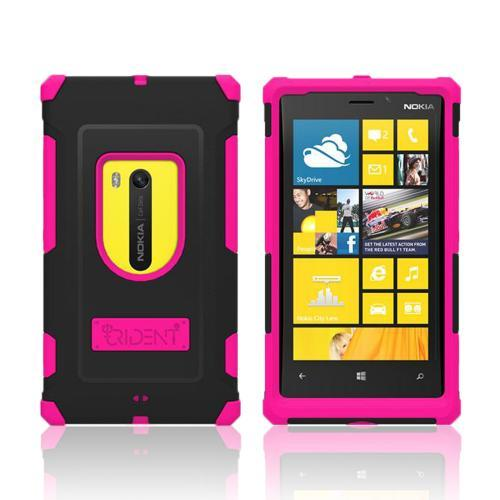 Trident Pink/ Black Aegis Series Hard Cover on Silicone Case w/ Screen Protector for Nokia Lumia 920