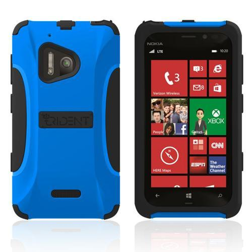Trident Blue/ Black Aegis Series Hard Cover on Silicone Case w/ Screen Protector for Nokia Lumia 928