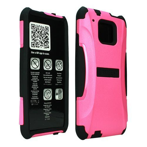 Trident Hot Pink/ Black Aegis Series Hard Cover on Silicone Case w/ Screen Protector for HTC One Mini - AG-HTC-M4-PNK