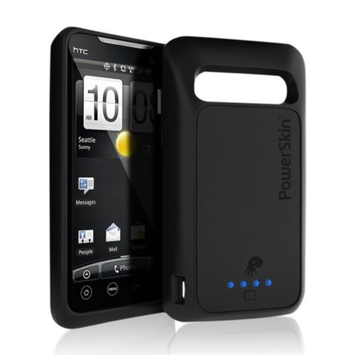Black OEM PowerSkin Silicone Charging Case for HTC EVO 4G (Doubles Battery Life!)