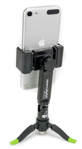 Square Jellyfish Black Universal Spring Tripod Mount w/ Micro Ball Head & Jelly Legs Micro Tripod for Phones