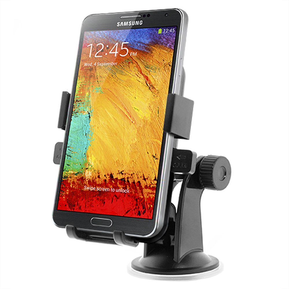 iOttie Black Easy One Touch XL Universal Car Mount for Phones (Can fit Galaxy Note devices!) - HLCRIO101